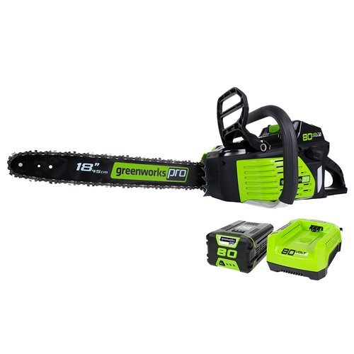 GreenWorks Pro GCS80420 80V 18-Inch Cordless Chainsaw