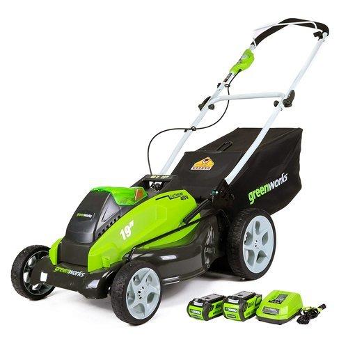 GreenWorks 25223 G-MAX 40V Li-Ion 19-Inch Cordless Lawn Mower