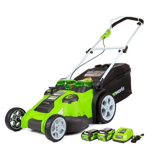 GreenWorks 25302 Twin Force G-MAX 40V Li-Ion 20-Inch Cordless Lawn Mower